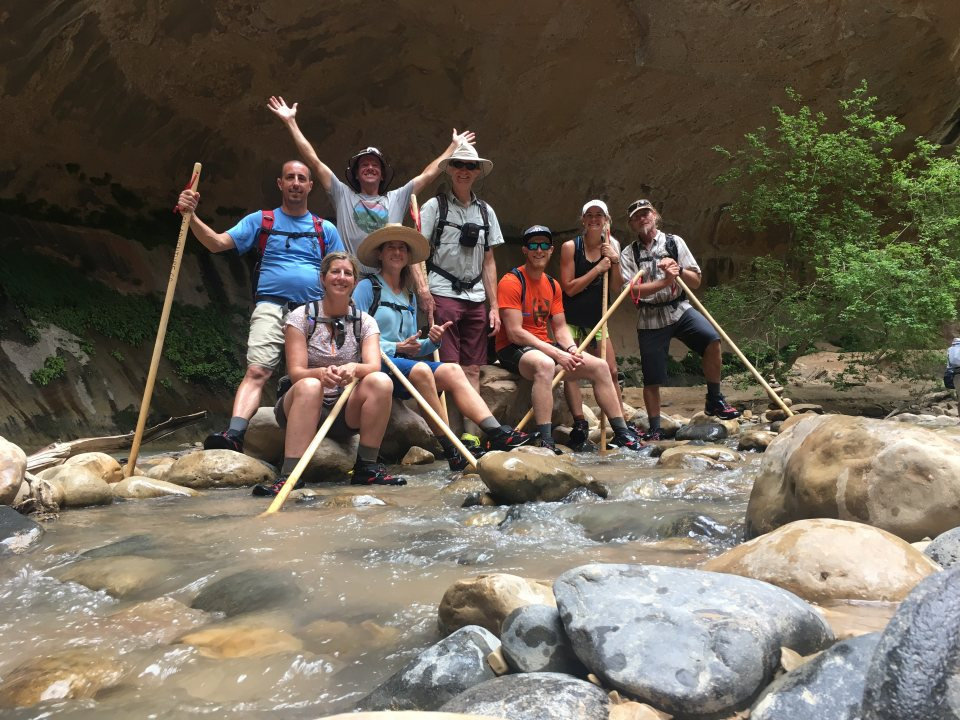 Finishing a great week with a Narrows hike in Zion