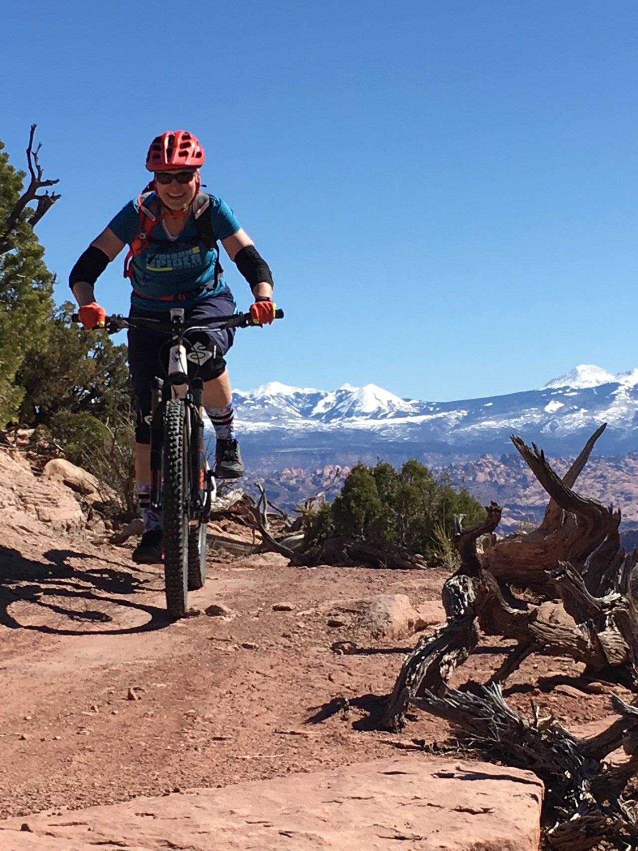 Susan enjoys Spring riding on the Intrepid trails