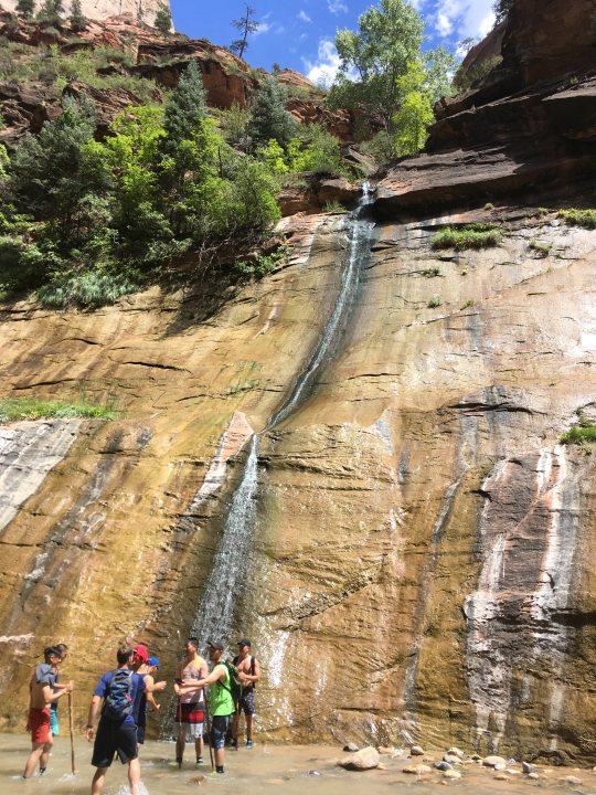 Waterfall in the Narrows of Zion